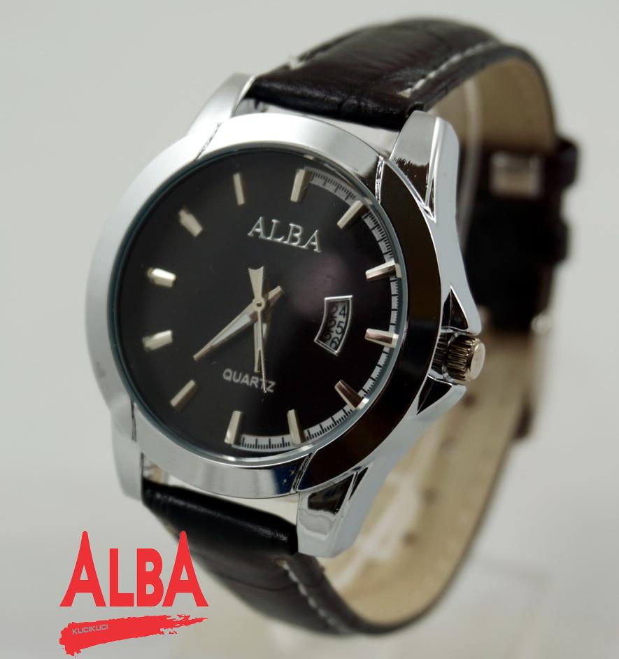 Alba cewek silver  hitam