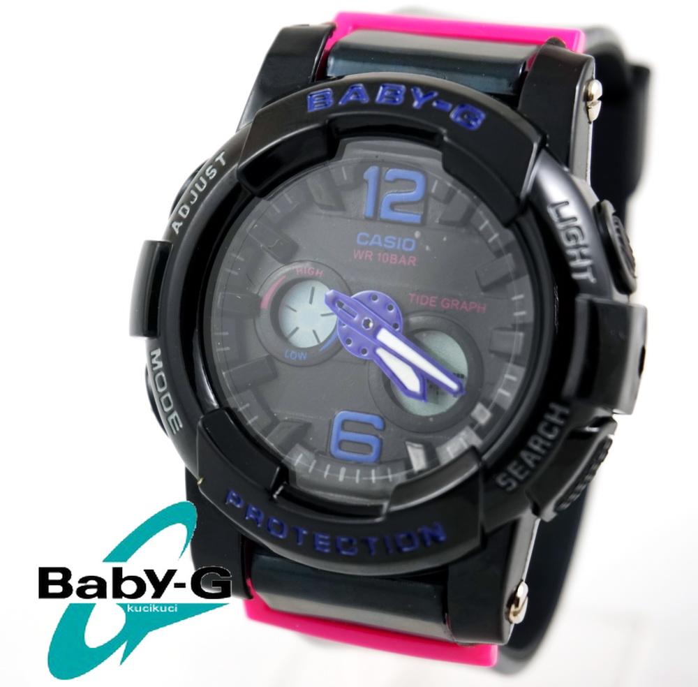 Baby G BGA 180 HitamList Pink