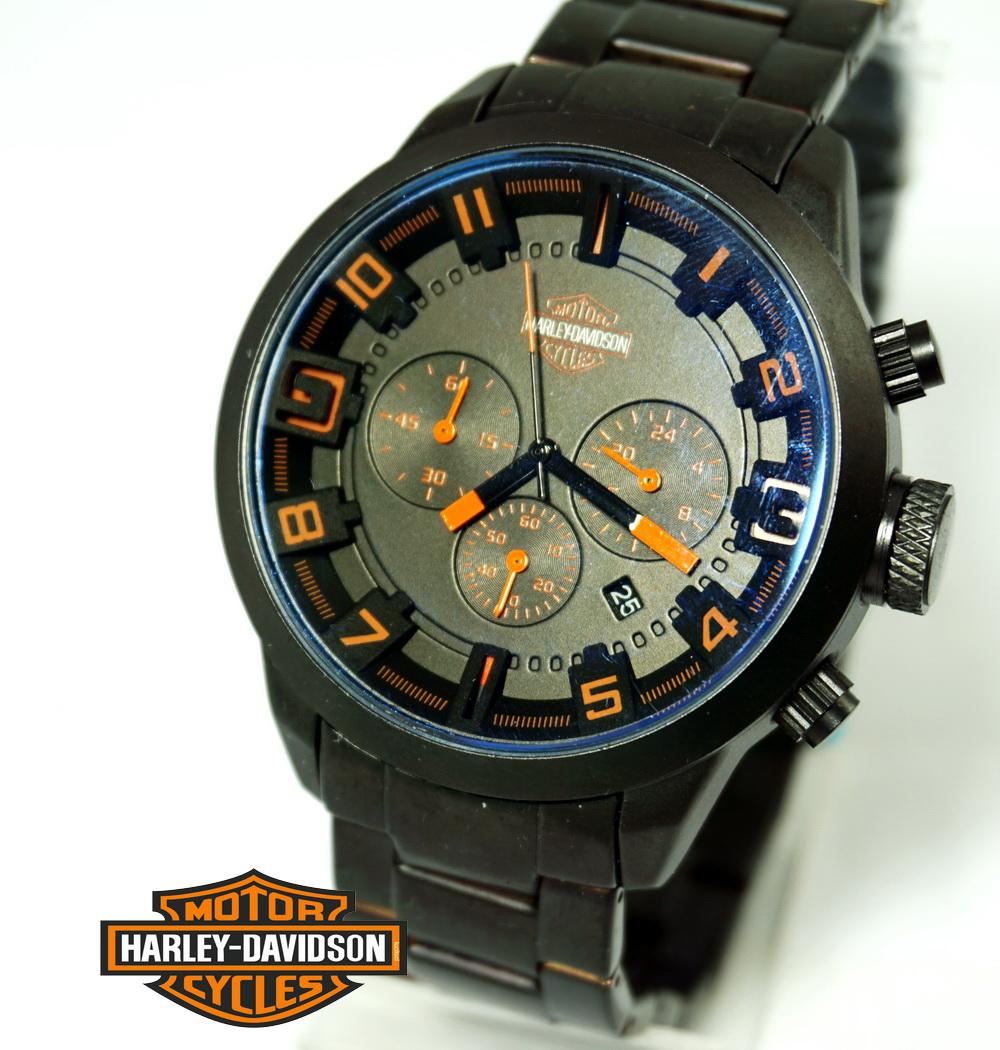 Harley Davidson Chrono Rantai Hitam 2