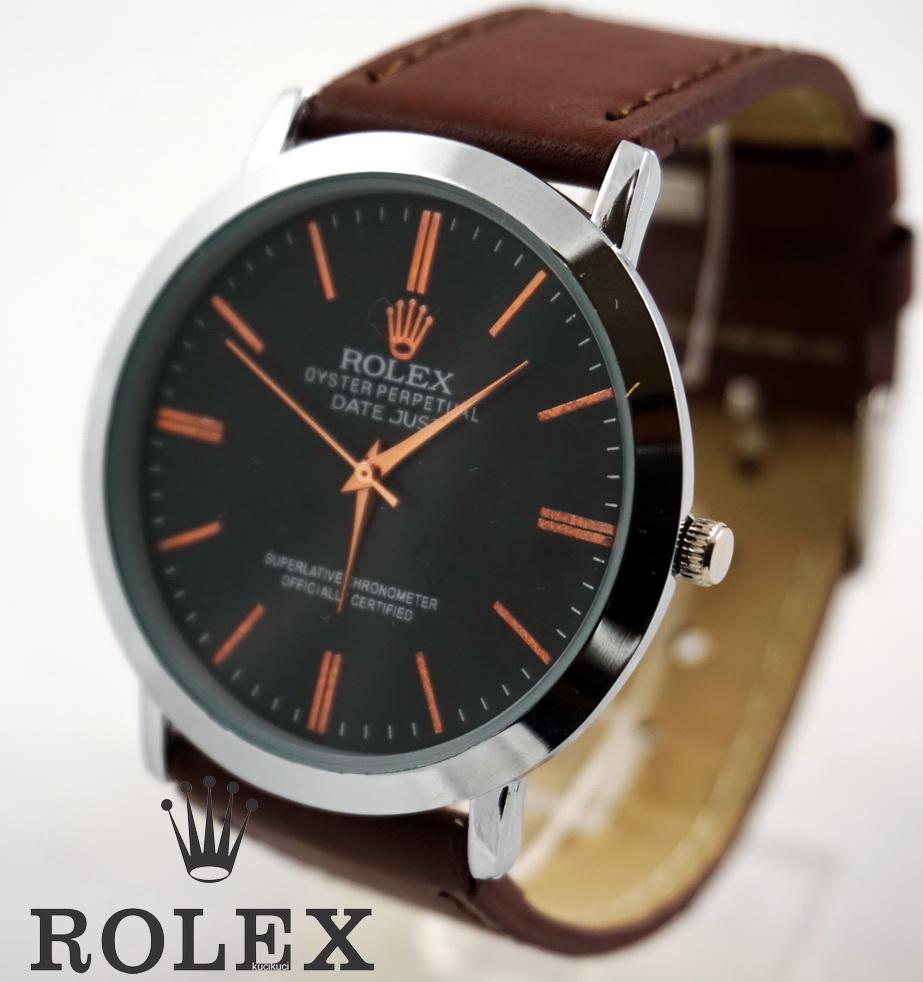 Rolex Polos Hitam Coklat