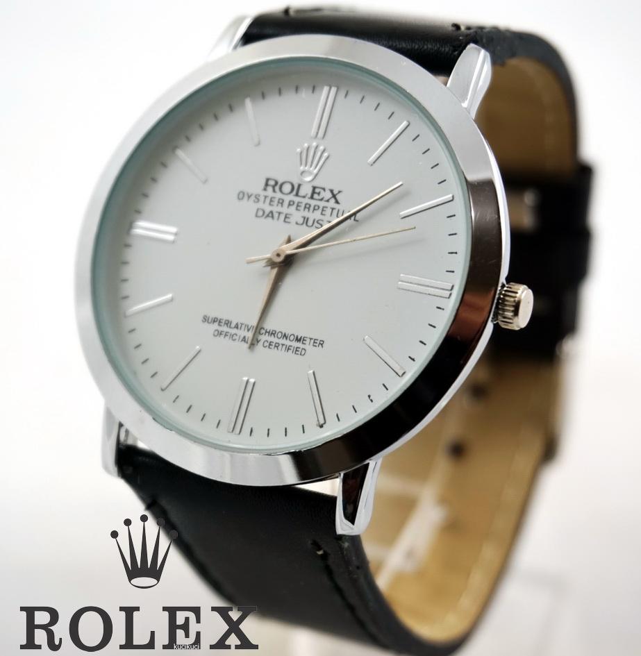 Rolex Polos Putih Hitam