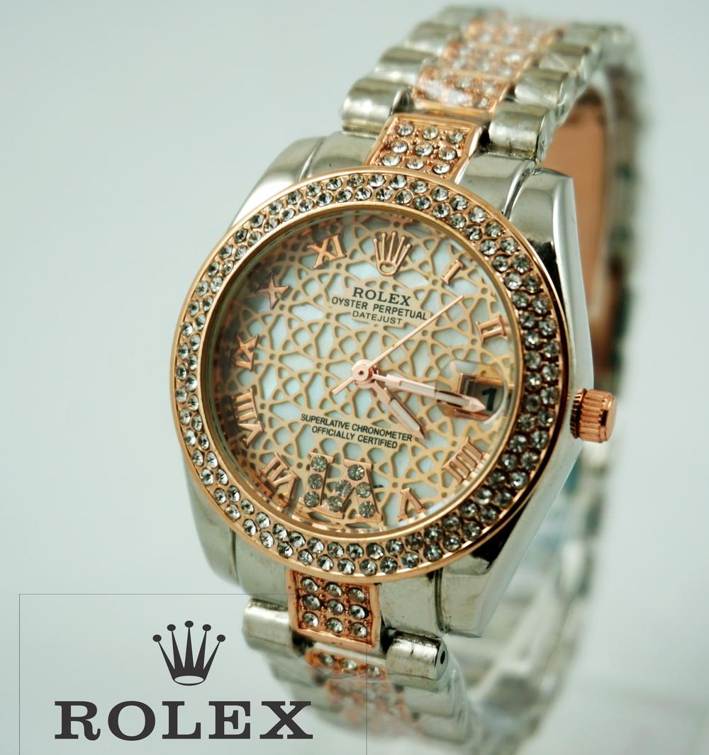 Rolex Romawi Rosegold Ladies