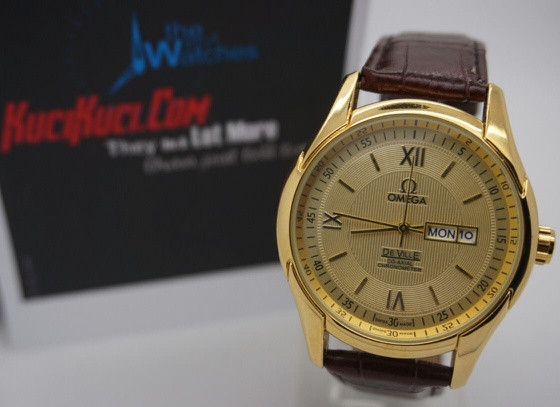 Omega Deville Gold Brown